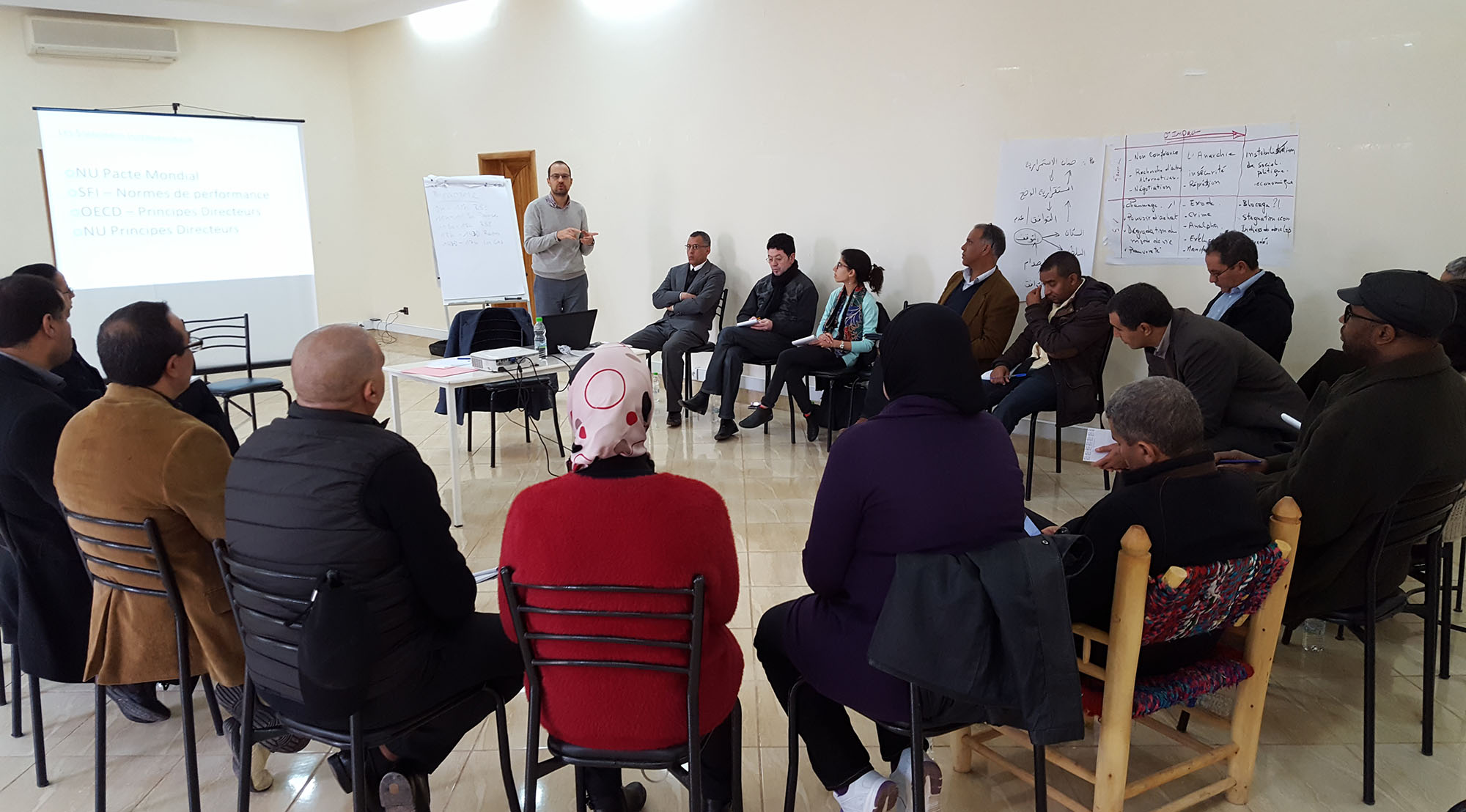 Mediation support for mining conflicts in the Maghreb